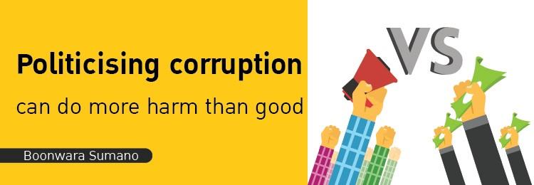 politicising corruption