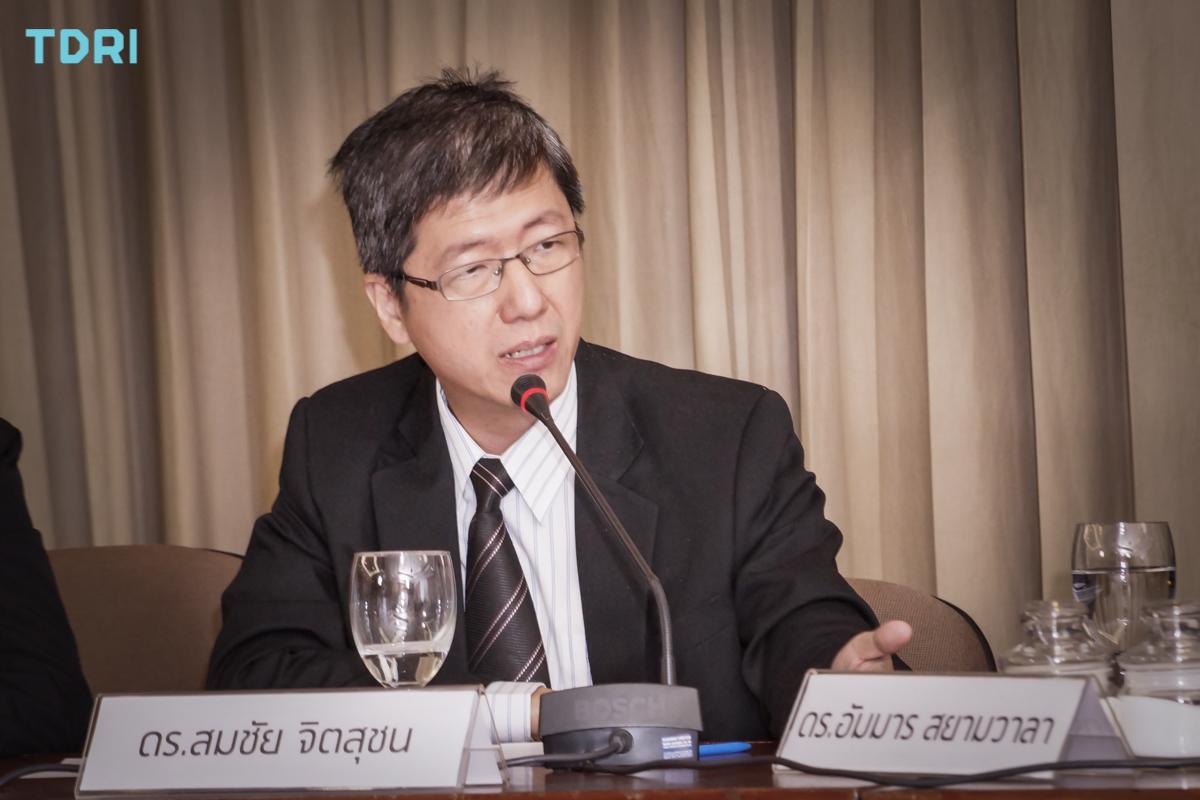 ดร.สมชัย จิตสุชน ผู้อำนวยการวิจัยด้านการพัฒนาอย่างทั่วถึง ทีดีอาร์ไอ